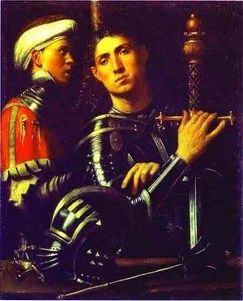 Portrait of a gentleman in armor 1510 galleria degli uffizi florence italy